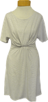 Sarah Liller Knotted Front Jersey Magnolia Dress - Heather Stripe (S)