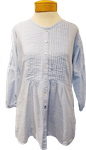 Siganka Molly Button Up Blouse - Blue Opal
