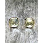 Sosie Gold Cushion Topez Stud Earrings - SOLD OUT