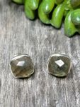 Sosie Silver Cushion Studs - Labradorite SOLD OUT