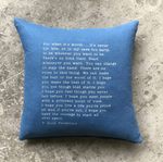 Stash Style F. Scott Fitzgerald Pillow - Denim Blue - SOLD OUT