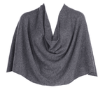 Tees by Tina Ruana Cashmere Poncho Wrap - Heather Charcoal Gray SOLD OUT