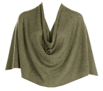 Tees by Tina Ruana Cashmere Wrap Poncho - Heathered Army SOLD OUT
