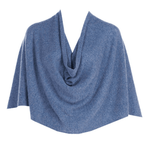 Tees by Tina Ruana Cashmere Wrap Poncho - Heather Light Denim SOLD OUT