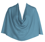 Tees by Tina Ruana Cashmere Wrap Poncho - Ocean Turquoise