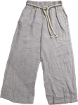 Tina Stephens Lilly Washed Linen Pant w/Slit - Jean - SOLD OUT