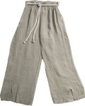Tina Stephens Lilly Washed Linen Pant w/Slit - Sage - SOLD OUT