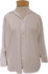 Velvet Carey Cotton Shirting Top - White
