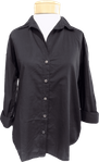 Velvet Ramona Long Sleeve Button Front Top - Black - SOLD OUT