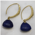 Viajera Designs Taj Earrings - Blue Lapiz - SOLD OUT