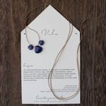 Vibe 3-Stone Necklace - Lapis - SOLD OUT