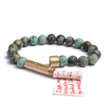 Wishbeads Matte African Turquoise Bracelet - SOLD OUT
