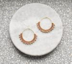 Wool & Moon Caramel Creole Earrings