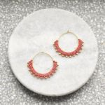 Wool & Moon Creole Gold Plated Earrings - Pepper