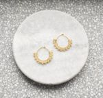 Wool & Moon Golden Mini Creole Earrings
