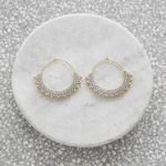Wool & Moon Silver Sand Creole Earrings