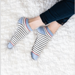 Woven Pear French Shorty Ankle Socks - Stripes
