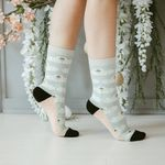 Woven Pear Swans Socks - SOLD OUT