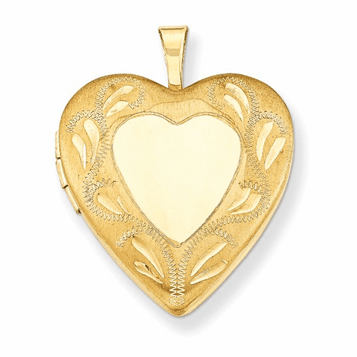 1/20 Gold Filled 2-frame 19mm Heart Locket Qls109