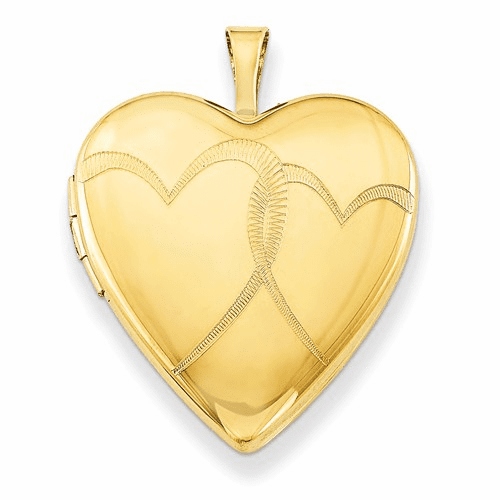 1/20 Gold Filled 20mm Entwined Hearts Heart Locket Qls272-18