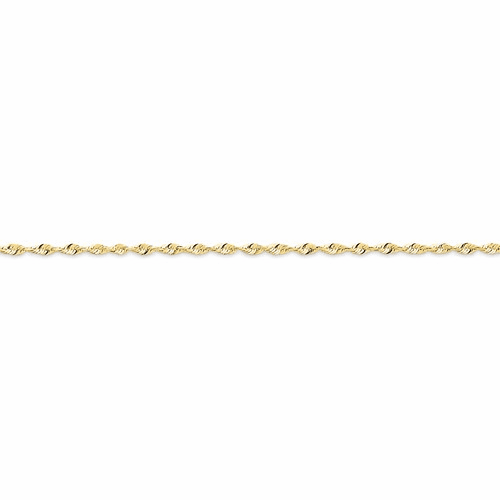 10k 1.8mm D/c Extra-lite Rope Chain 10ex014-9