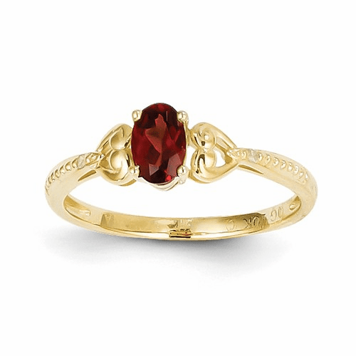 10k Garnet Diamond Ring 10xb274