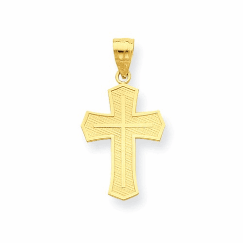 10k Passion Cross Pendant 10c1312