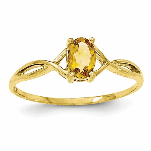 10k Polished Geniune Citrine Birthstone Ring 10xbr236