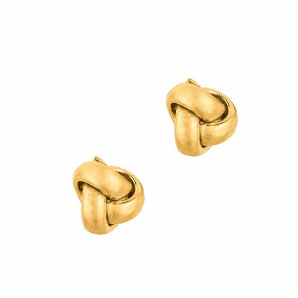 10K Yellow Gold Small Loveknot Post Earring with Butterfly Clasp