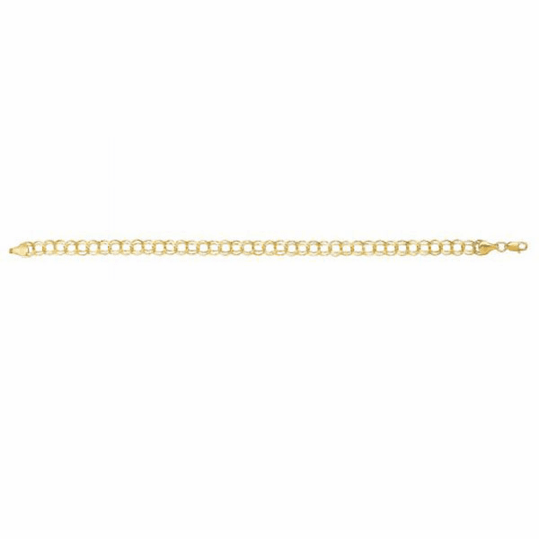 "10kt Gold 7.25"" Yellow Finish Bracelet"