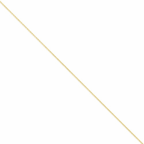 14k 1.3mm Solid D/c Cable Chain Pen140-9