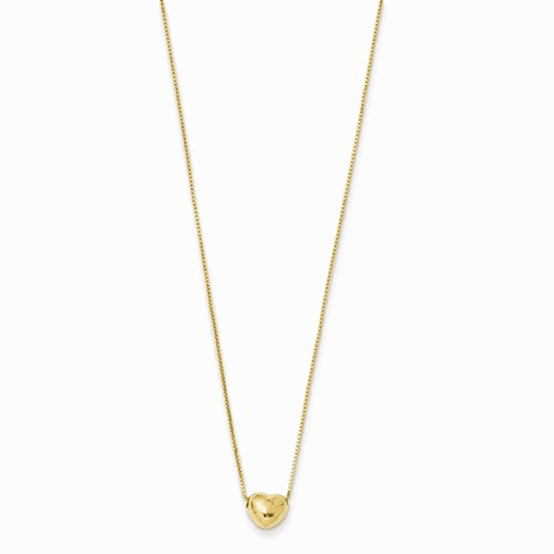 14k 16 Chain With Heart Charm Necklace Xch108