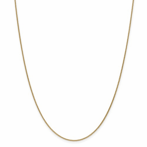 14k 1mm Cable Chain Pen53-18