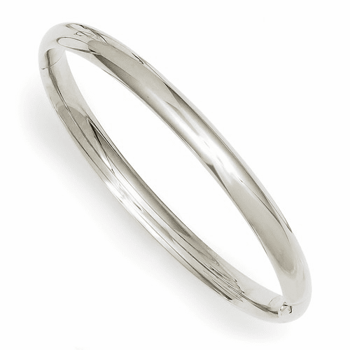 14k 3/16 White Gold Hinged Baby Bangle Bracelet Wbp3/16
