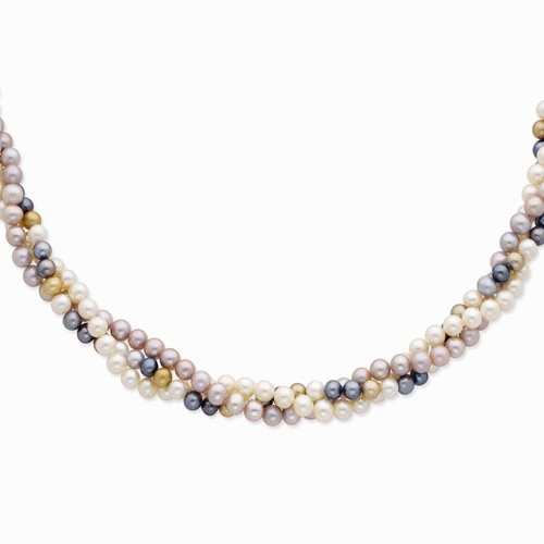 14k 6-7mm Multicolor Fw Cultured Pearl Necklace Xf376-18