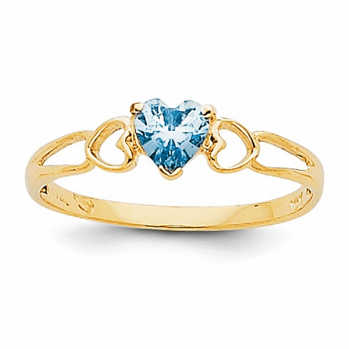 14k Aquamarine Birthstone Ring Xbr156