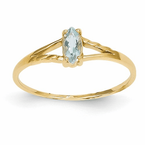 14k Aquamarine Birthstone Ring Xbr180