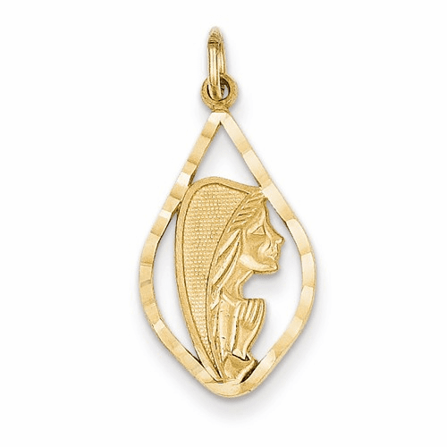 14k Blessed Mary Charm C1919