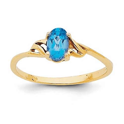 14k Blue Topaz Birthstone Ring Xbr141
