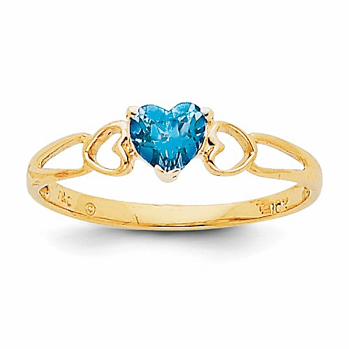 14k Blue Topaz Birthstone Ring Xbr165