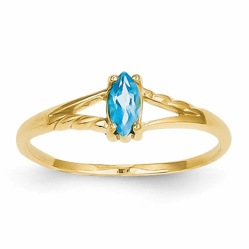 14k Blue Topaz Birthstone Ring Xbr189