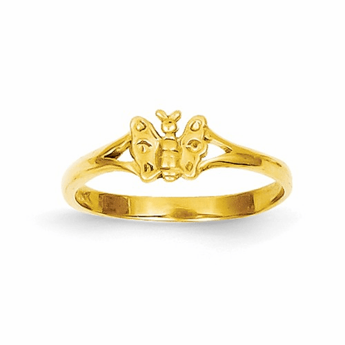 14k Butterfly Baby Ring R529