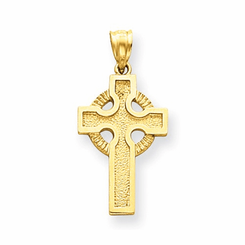 14k Celtic Cross Charm C1461