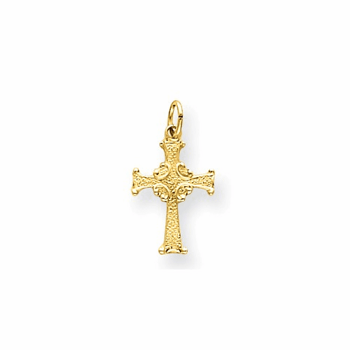 14k Celtic Cross Charm Xr194
