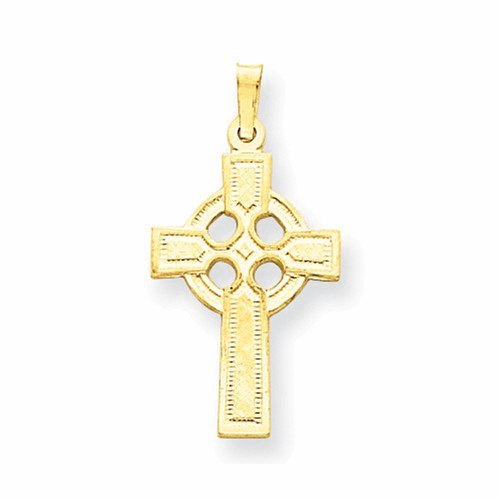 14k Celtic Cross Charm Xr531