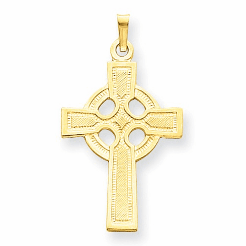 14k Celtic Cross Charm Xr532