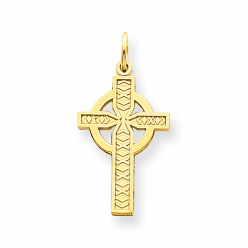 14k Celtic Cross Pendant C1460