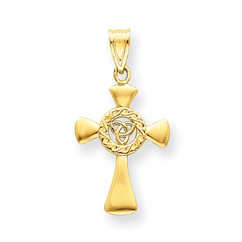 14k Celtic Cross Pendant C1943