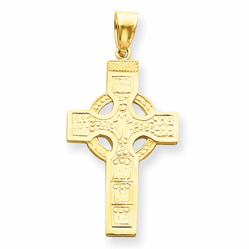14k Celtic Cross Pendant C895
