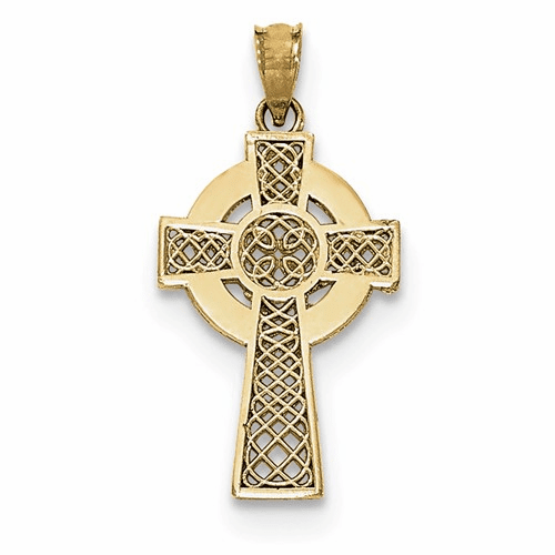 14k Celtic Cross Pendant K5514